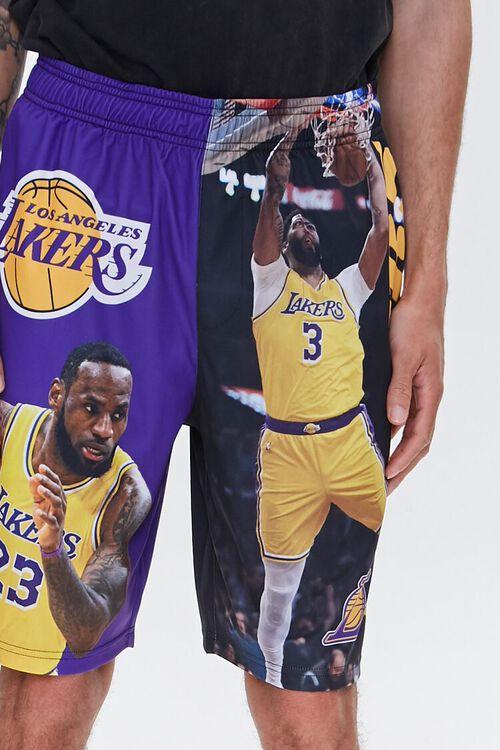 PURPLE/YELLOW LA Lakers Graphic Shorts, image 6