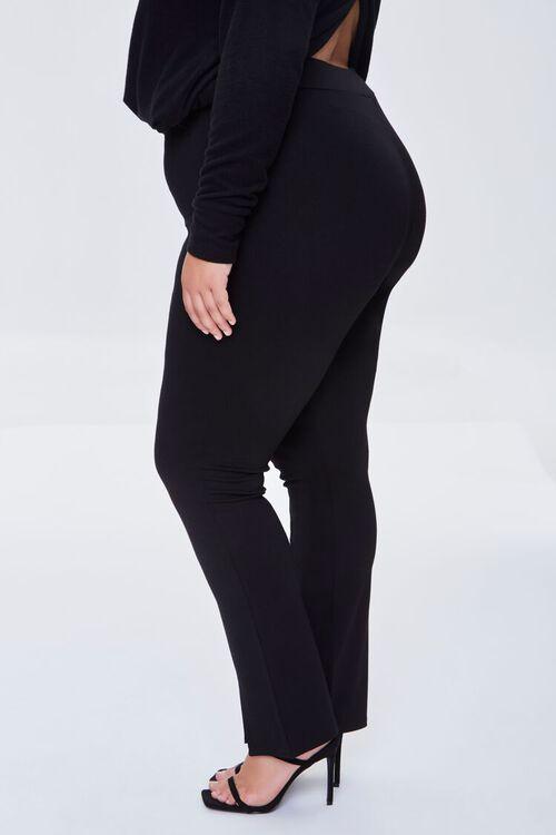BLACK Plus Size Split-Hem Pants, image 3