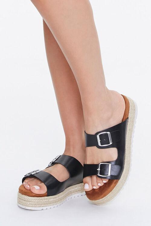 Buckled Espadrille Platform Sandals, image 1