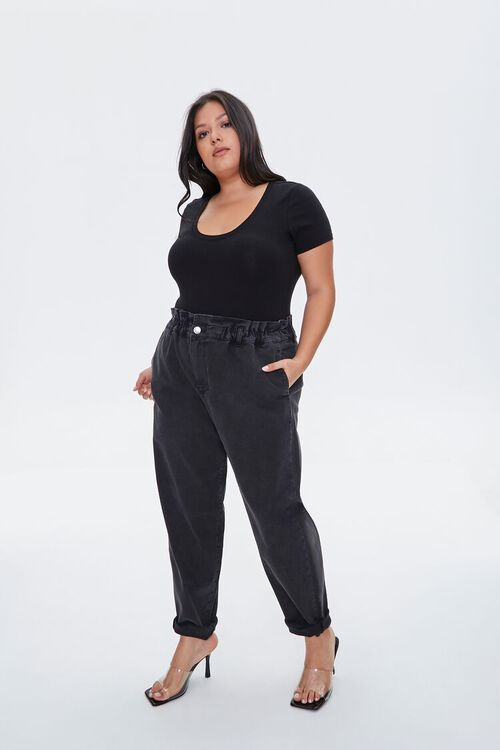Plus Size Paperbag Jeans, image 1
