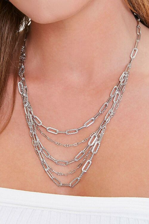 Layered Anchor Chain Necklace, image 1