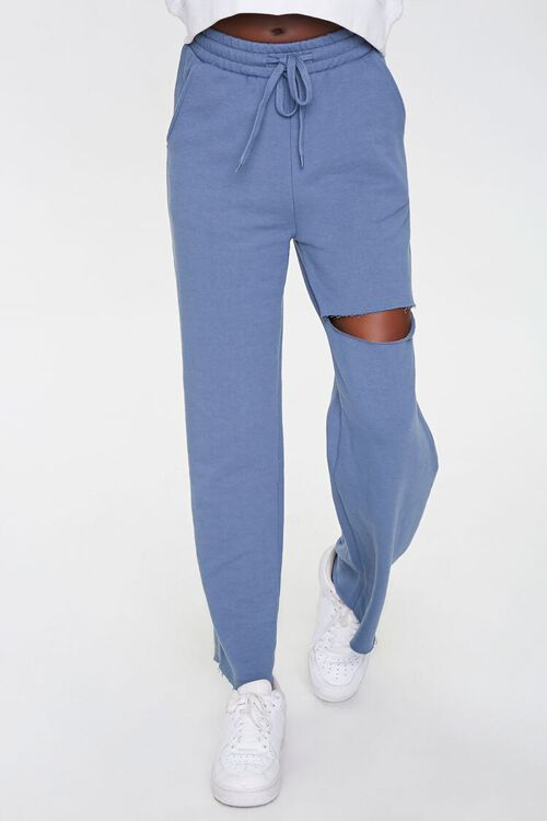 Ripped French Terry Sweatpants, image 2