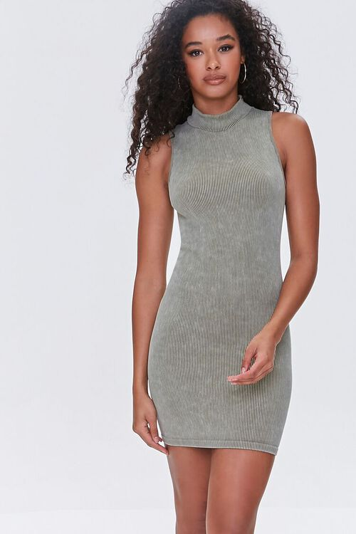 OLIVE Seamless Ribbed Bodycon Tank Dress, image 5