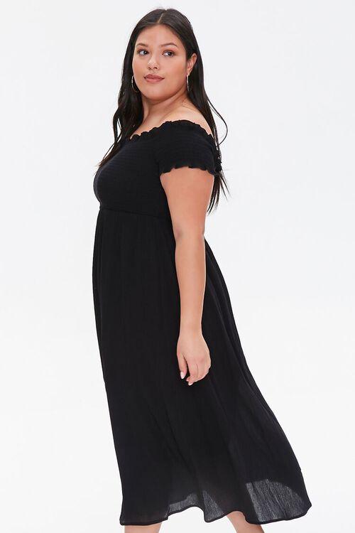 Plus Size Smocked Off-the-Shoulder Dress, image 2