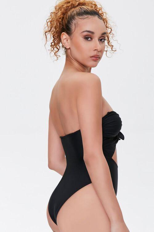 BLACK Bow Cutout One-Piece Swimsuit, image 3