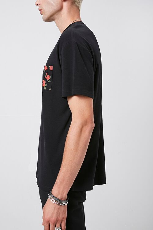 Rose Print Pocket Tee, image 2