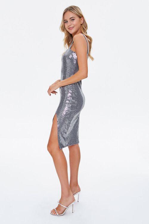 Metallic Pin Dot Knee-Length Dress, image 3