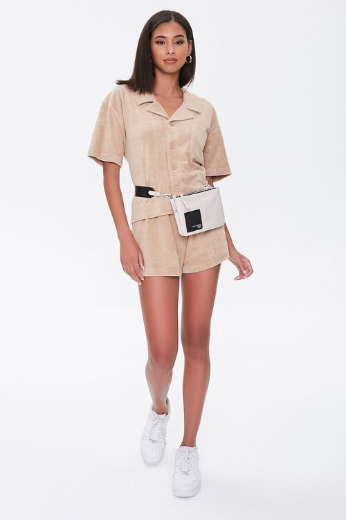 Kendall & Kylie Terrycloth Notched Shirt, image 5