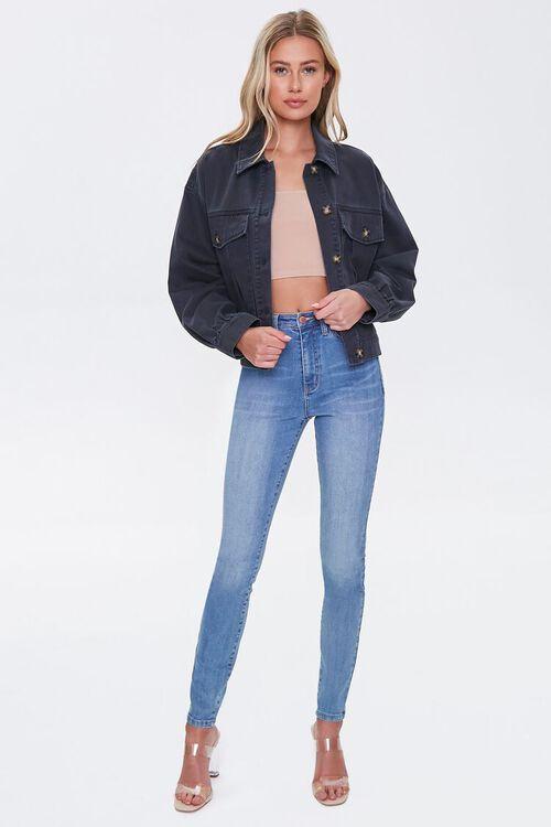 Denim Button-Front Jacket, image 4