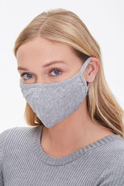 CHARCOAL/HEATHER GREY Camo Print Face Mask Set, image 3