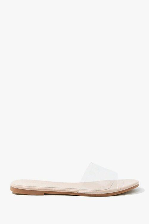 Transparent Faux Leather Sandals, image 1