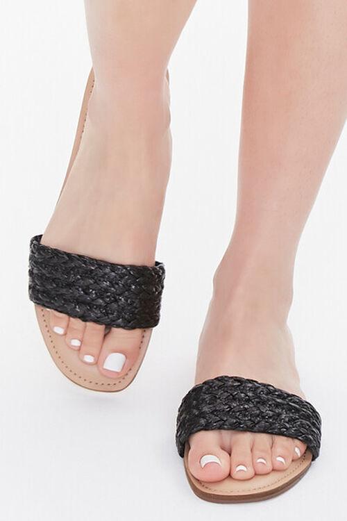 BLACK Braided Flat Sandals, image 4