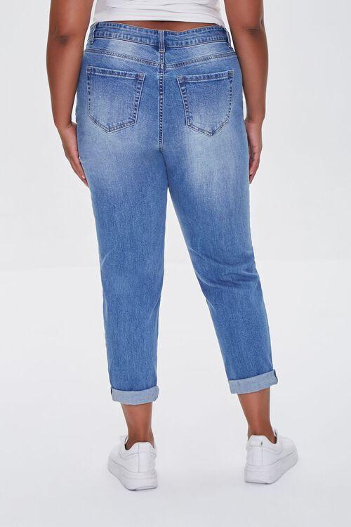 MEDIUM DENIM Plus Size Premium Boyfriend Jeans, image 4