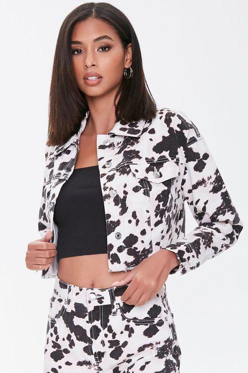Cow Print Denim Jacket, image 5