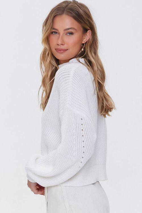 CREAM Mock Neck Ribbed Sweater, image 2
