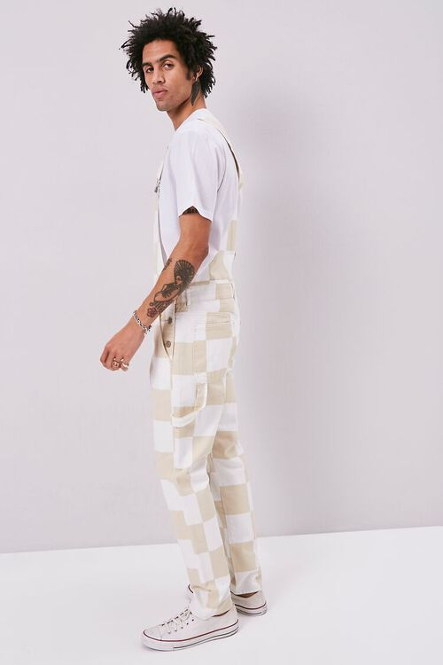 Checkered Canvas Overalls, image 2