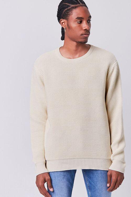CREAM Ribbed Crew Neck Sweater, image 1