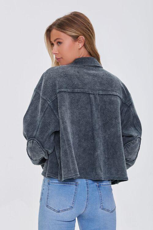 CHARCOAL Reverse Fleece Drop-Sleeve Jacket, image 3