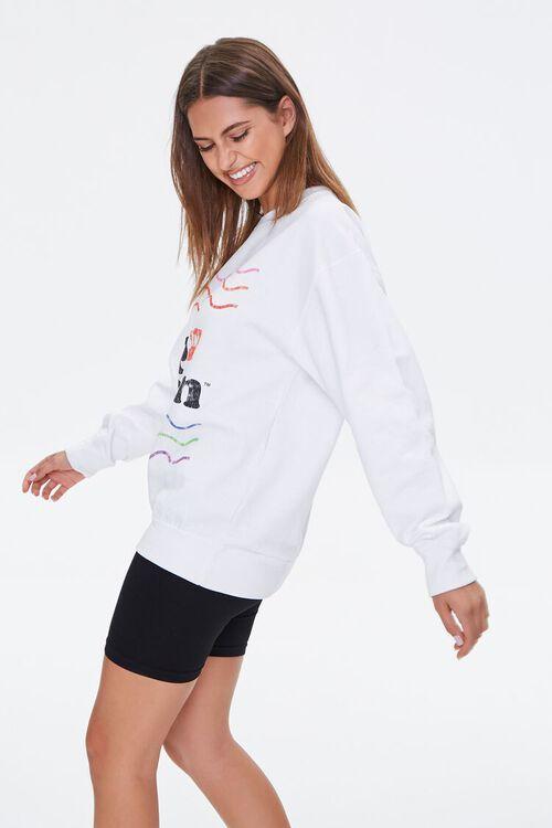 WHITE/MULTI Nissin Top Ramen Graphic Pullover, image 2