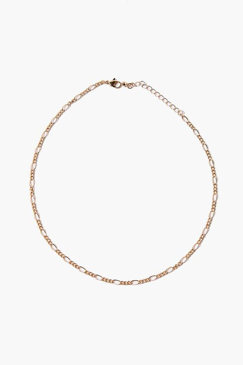 GOLD Curb Chain Necklace, image 1