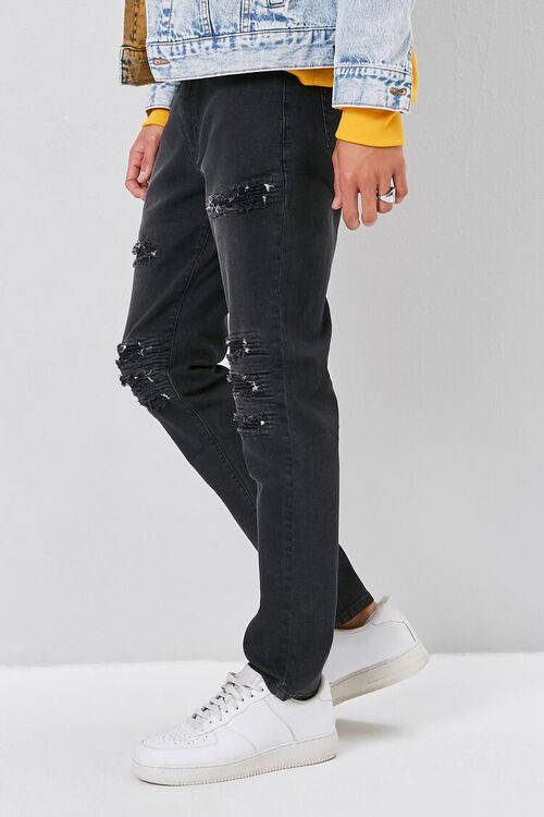 Moto-Panel  Distressed Skinny Jeans, image 3