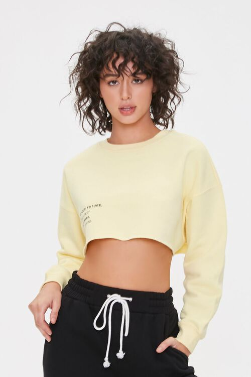 Be Loyal To Your Future Cropped Pullover, image 2