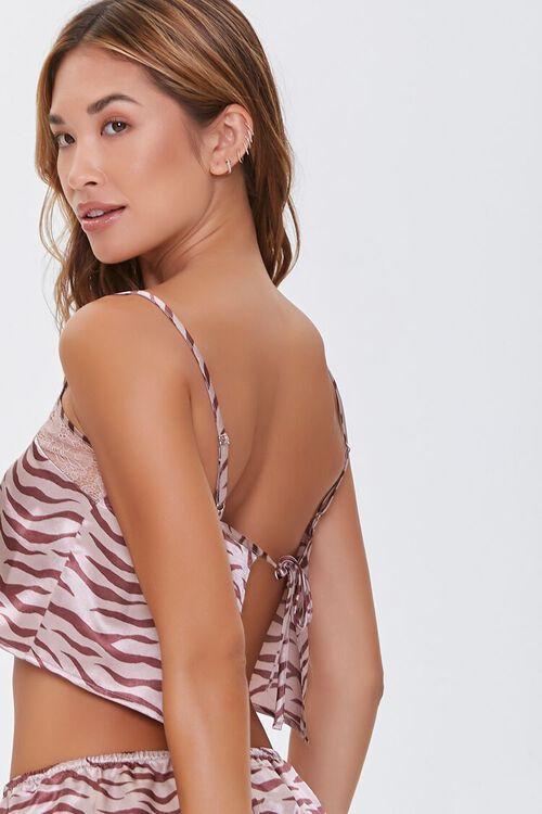 Satin Tiger-Striped Pajama Cami, image 3
