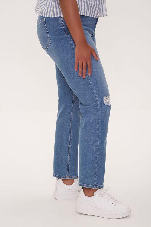Plus Size Distressed Straight-Leg Jeans, image 3
