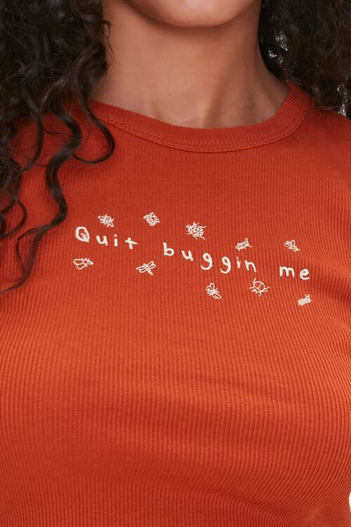 Quit Buggin Me Cropped Tee, image 5