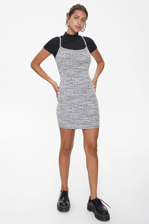 Marled Bodycon Twofer Dress, image 4