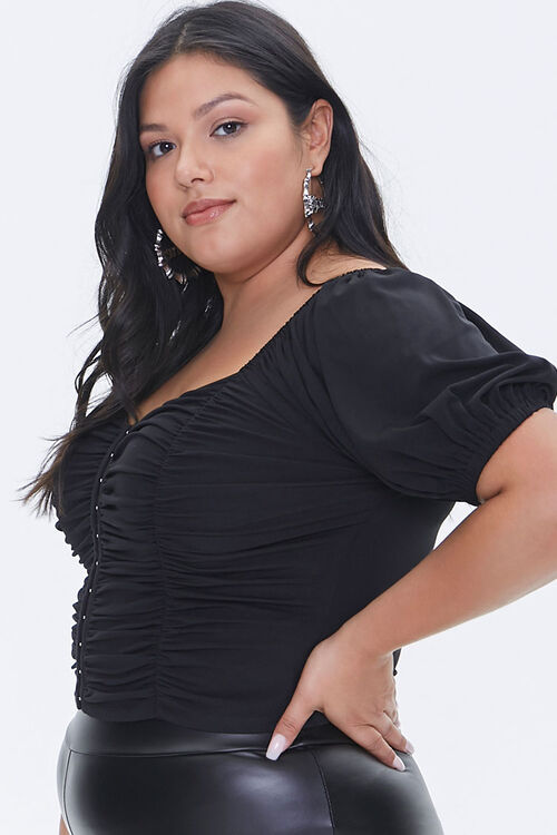 Plus Size Hook-and-Eye Crop Top, image 2