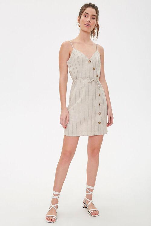 Striped Linen Cami Dress, image 4