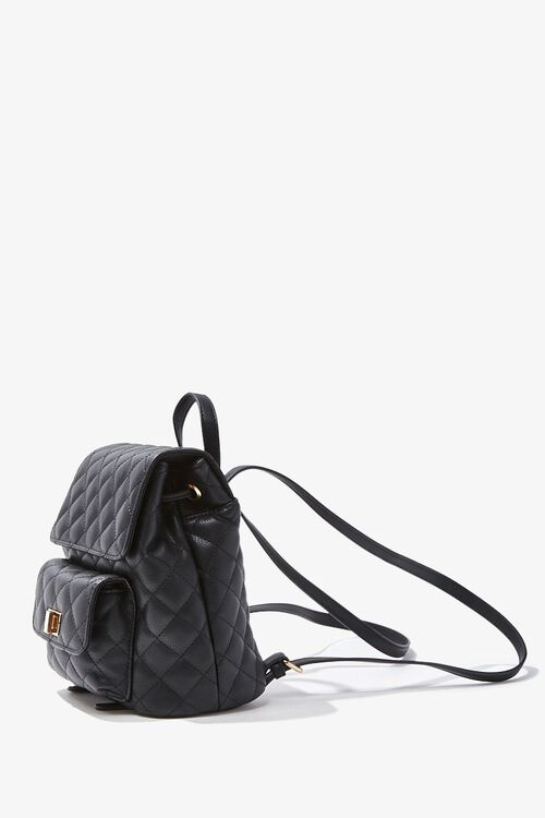 Quilted Faux Leather Backpack, image 2