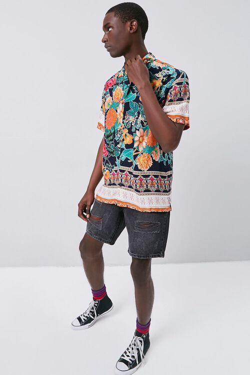 Tropical Print Cuban Shirt, image 5