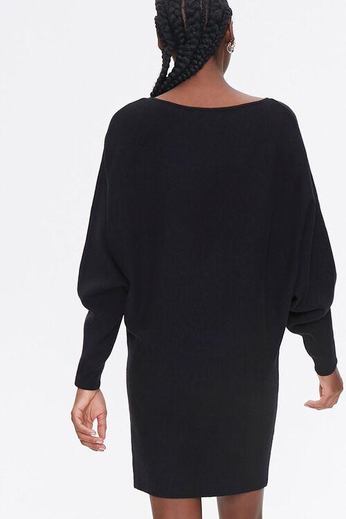 Batwing-Sleeve Sweater Dress, image 3