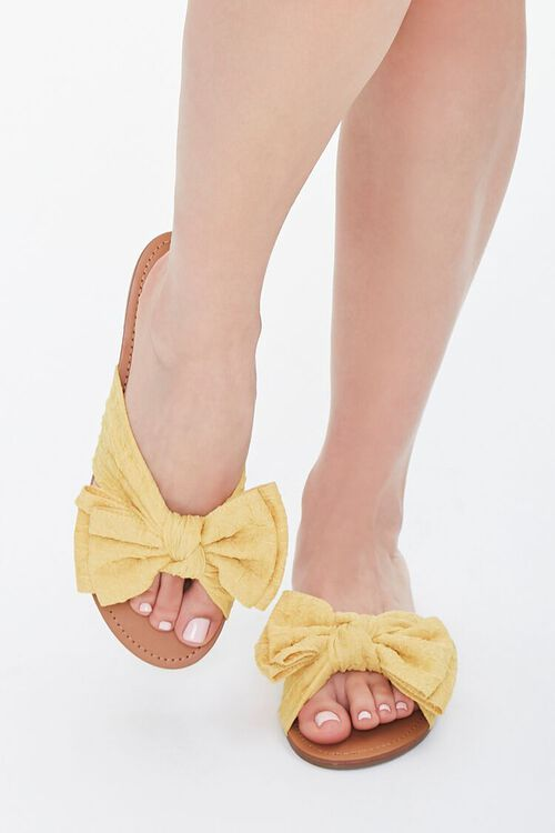 Dual Bow Flat Sandals, image 4