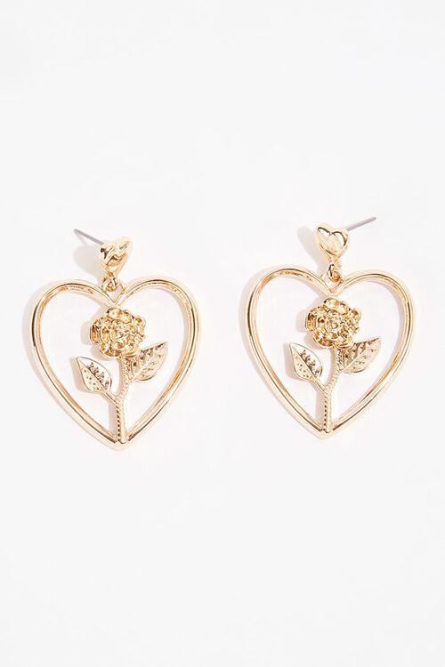 Heart Rose Earrings, image 2
