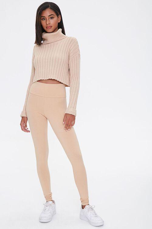 Cotton-Blend High-Rise Leggings, image 5