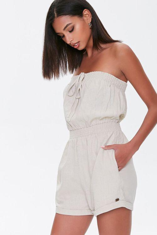 Kendall & Kylie Linen-Blend Romper, image 1