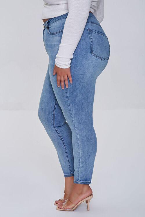 LIGHT DENIM Plus Size High-Rise Skinny Jeans, image 3