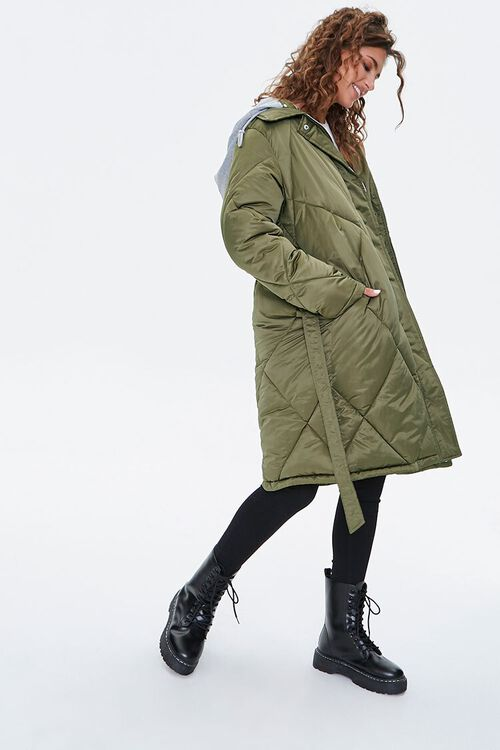 Longline Quilted Puffer Jacket, image 1