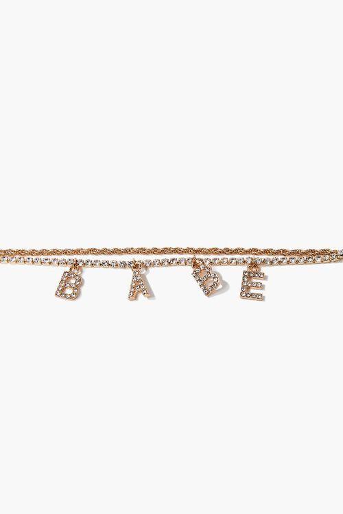 Babe Rhinestone Charm Bracelet, image 2