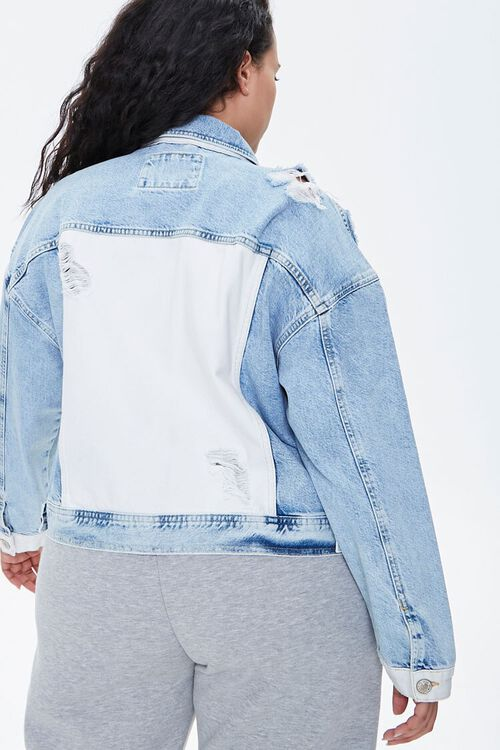 Plus Size Colorblock Denim Jacket, image 3