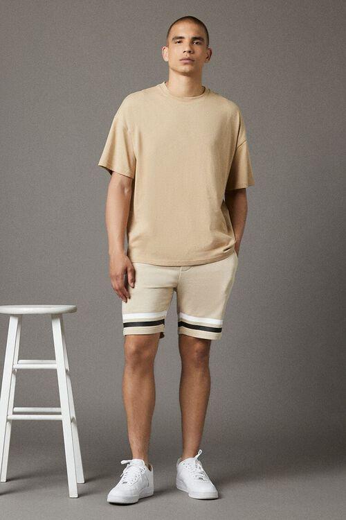 Striped-Trim Drawstring Shorts, image 1