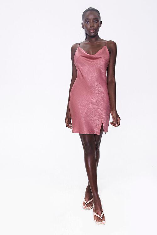 Satin Cowl-Neck Dress, image 4