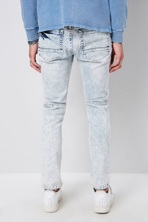 Distressed Panel Slim-Fit Jeans, image 3
