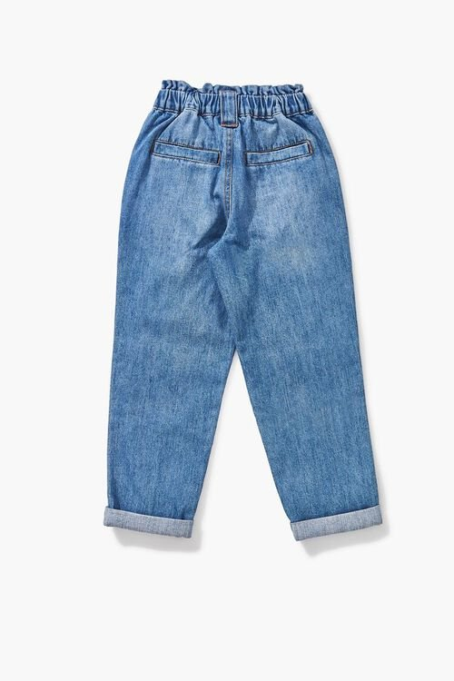 Girls Paperbag Cuffed Jeans (Kids), image 2