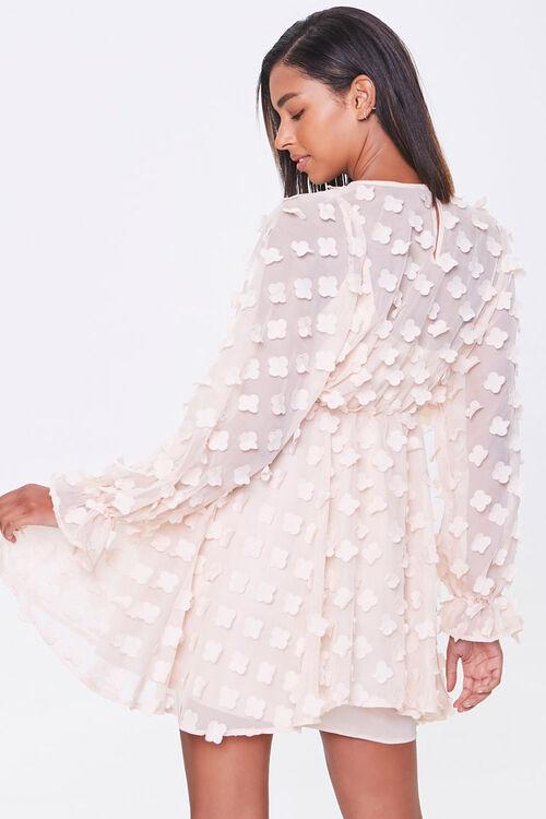 Clover-Embellished Fit & Flare Dress, image 3