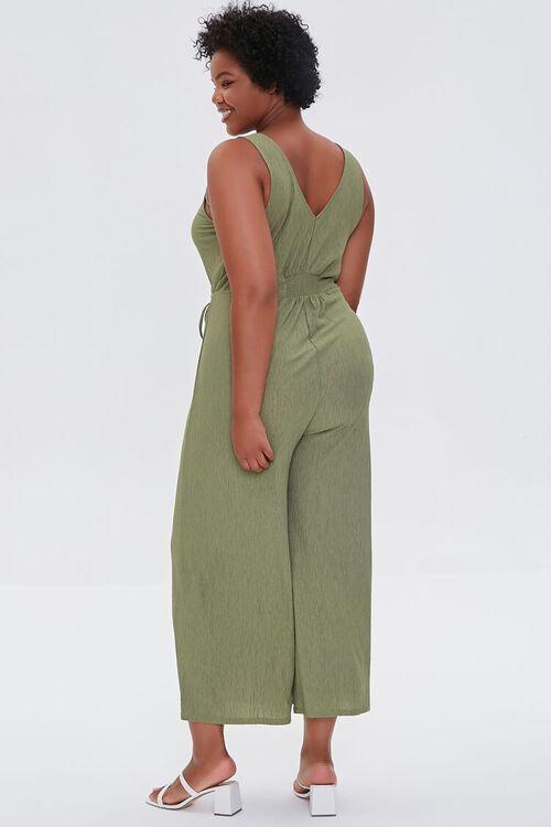 OLIVE Plus Size Wide Leg Cutout Jumpsuit, image 3