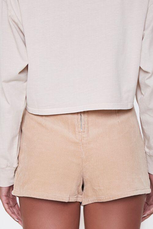 Corduroy Button-Front Skort, image 4